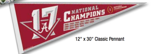 Alabama 2017 National Championship Classic Pennant