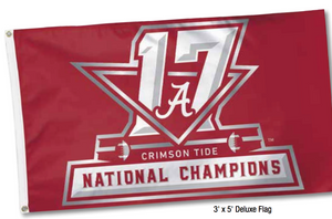 Alabama 2017 National Championship - 3' x 5' Deluxe Flag