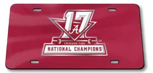 Alabama 2017 National Championship License Plate - Inlaid