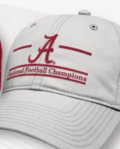 Alabama 2017 National Championship Hat-Grey