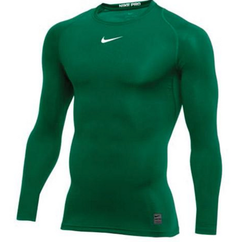 Nike Pro Long Sleeve Compression Top - Dark Green