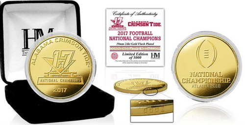 2017 Alabama National Championship Highland Mint Gold Mint Coin