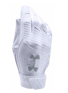 Under Armour Youth Tee Ball Clean Up Batting Glove - White