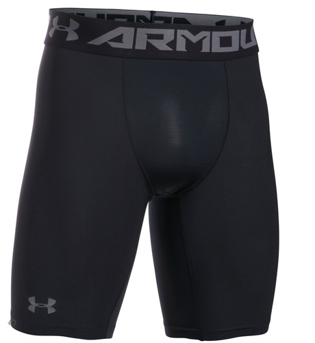 Under Armour Men's HeatGear Armour Long Compression Shorts - Black