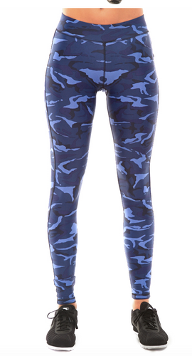 HPE High Waist Leggings Blue Camo