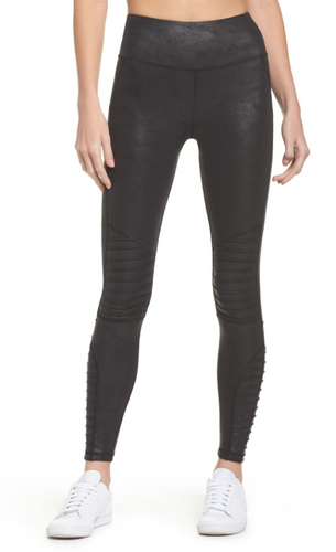 HPE High Waist Moto Leggings Black