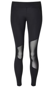 HPE Balance Leggings Black Mesh