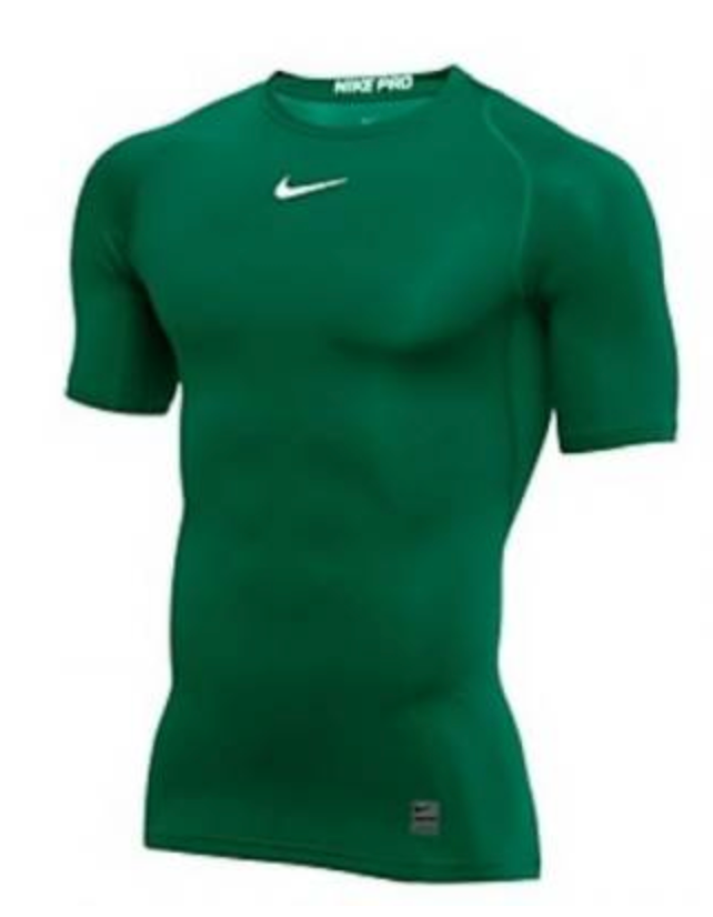 Nike Men's Pro Short Sleeve Compression Top - Green