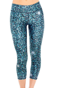 Girls Terez Leggings - Glitter Night Skies