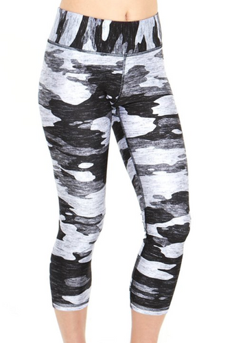 Girls Terez Leggings - Heathered Grey Camo