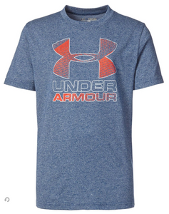 Under Armour Youth Heather Blue Big Logo T-Shirt