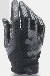 Under Armour Spotlight Football Gloves-Black