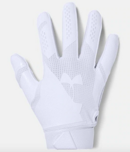 Under Armour Spotlight Football Gloves-White