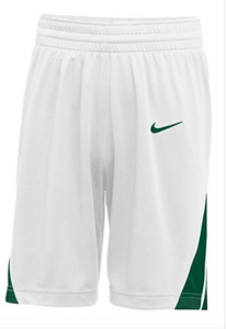 Nike Youth white/green Basketball Shorts