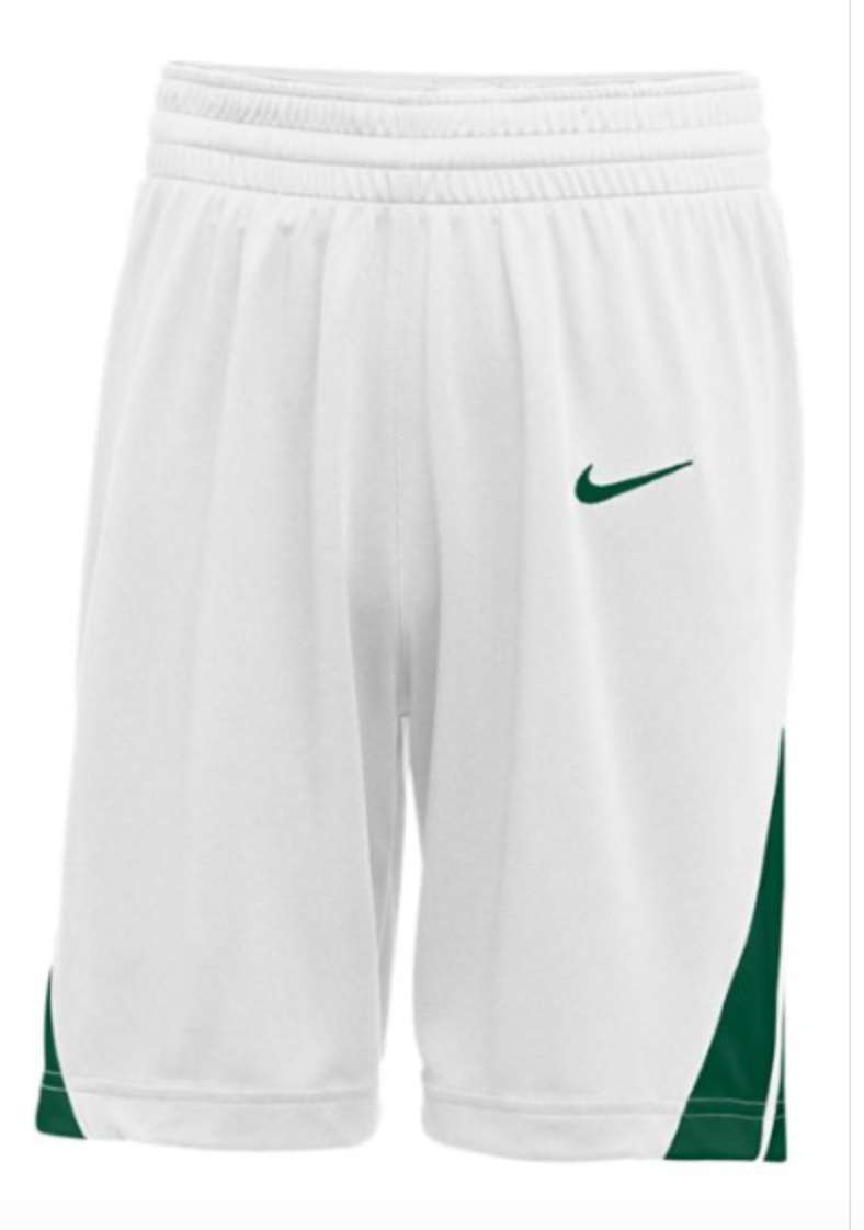 Nike Mens white/green Basketball Shorts