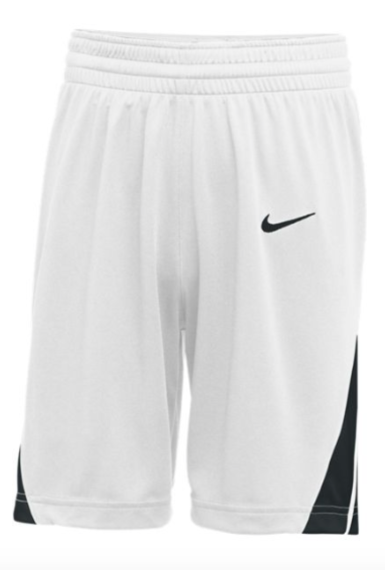 Nike Mens white/black Basketball Shorts