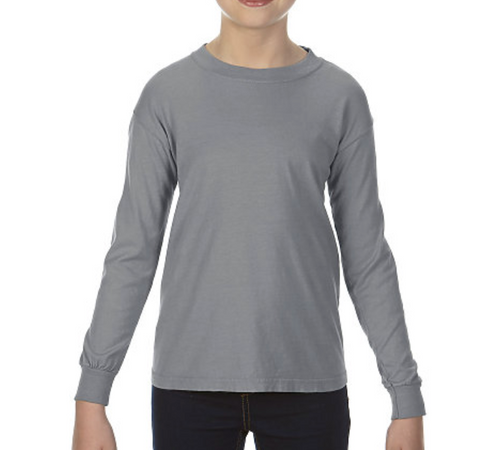 Comfort Colors L/S GRAY BLANK t-shirt