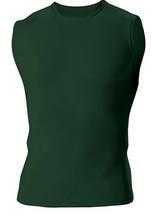 A4 youth sleeveless compression top