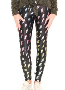 Terez Youth Glitter Lightning leggings