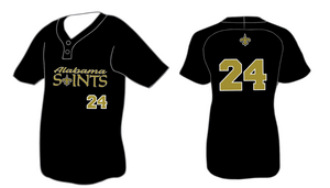 Alabama Saints Black Game Jersey*