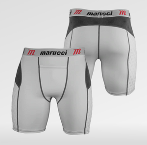 Marucci Mens White Sliding Shorts