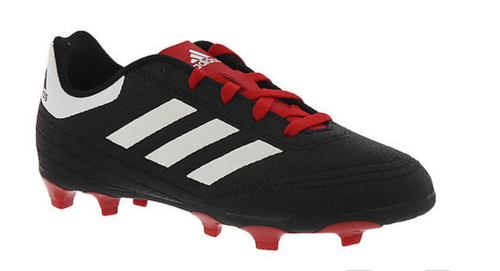 Adidas Goletto VI FG J Soccer Cleat/ BLK/WHT/SCARLET