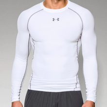 Under Armour Heat Gear L/S Compression Shirt --Adult White