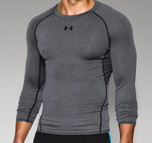 Under Armour Heat Gear L/S Compression Shirt --Adult Graphite