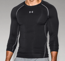 Armour Heat Gear L/S Compression Shirt --Adult Black
