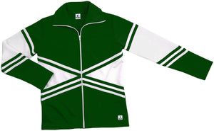 Cheer Double Knit X Warmup Jacket - Dark Green