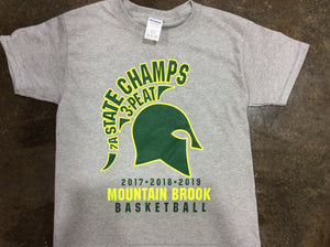 Three-peat Spartans championship tee