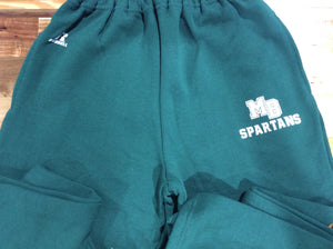 MB SPARTANS Youth Dri-Power Fleece Sweatpant with Pockets - Forest Green