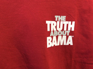 "University of Alabama Gildan Short Sleeve Shirt - ""The Truth About Bama"" Red"