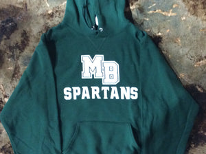 MB SPARTANS GREEN Adult Dri-Power Fleece Pullover Hoodie
