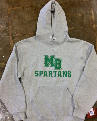 MB SPARTANS Adult Dri-Power Fleece Pullover Hoodie