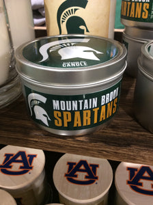 #Spartans 5.8 oz Tin Scented Candle--Balsam Fir