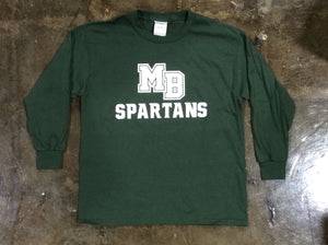 Spartan Pride Youth L/S Forest Green Tshirt