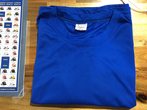 Augusta Sportswear Blue Shorts Sleeve Shirt