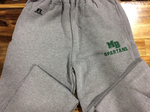 MB SPARTANS Youth Dri-Power Fleece Sweatpant with Pockets - Sport Grey