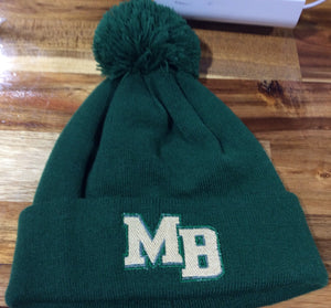 Spartan Pride Beanie - Dark Green Stacked MB