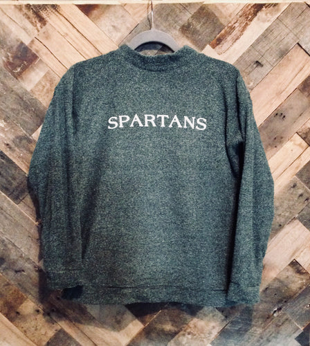 Woolly Threads Pullover - Spartans - Heather Green