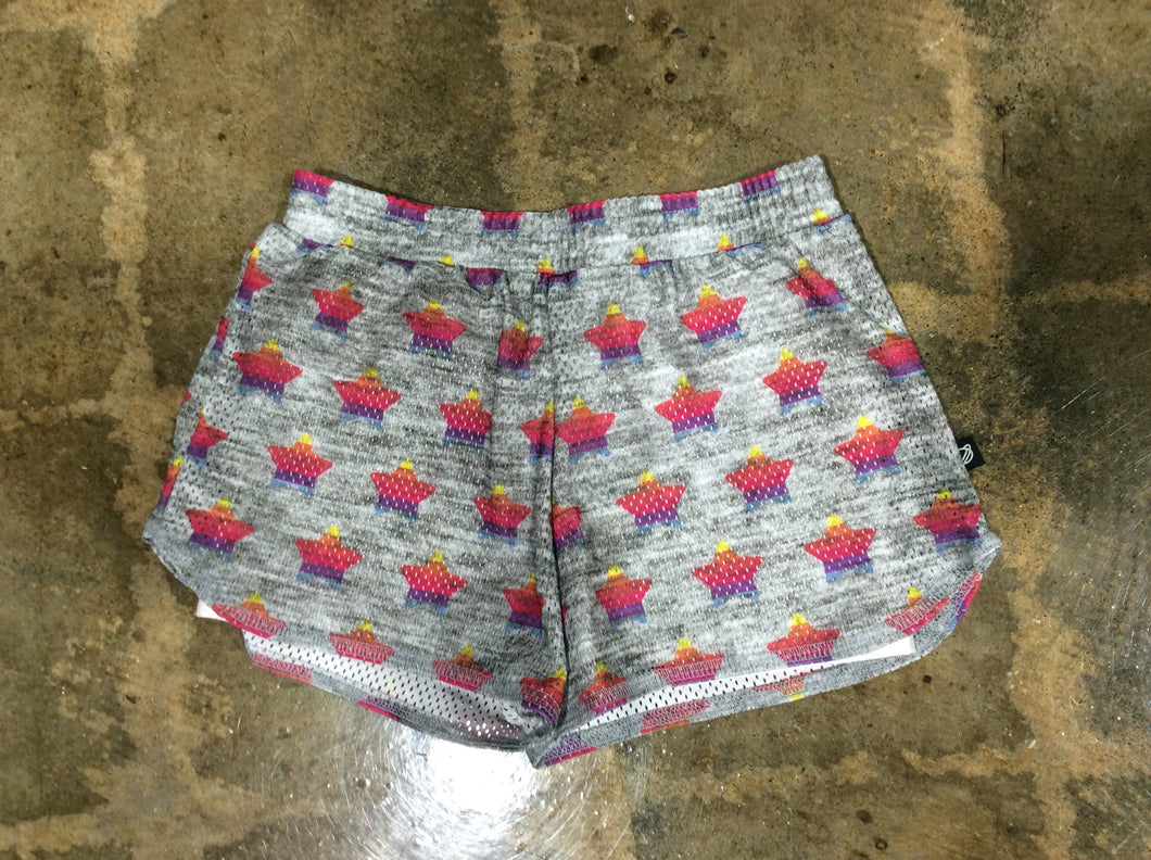 Terez Grey/Multi Colored Stars Girls Shorts