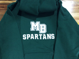MB SPARTANS Youth Dri-Power Fleece Pullover Hoodie - Forest Green