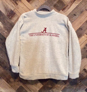 Woolly Threads Pullover - Alabama Crimson Tide - Natural