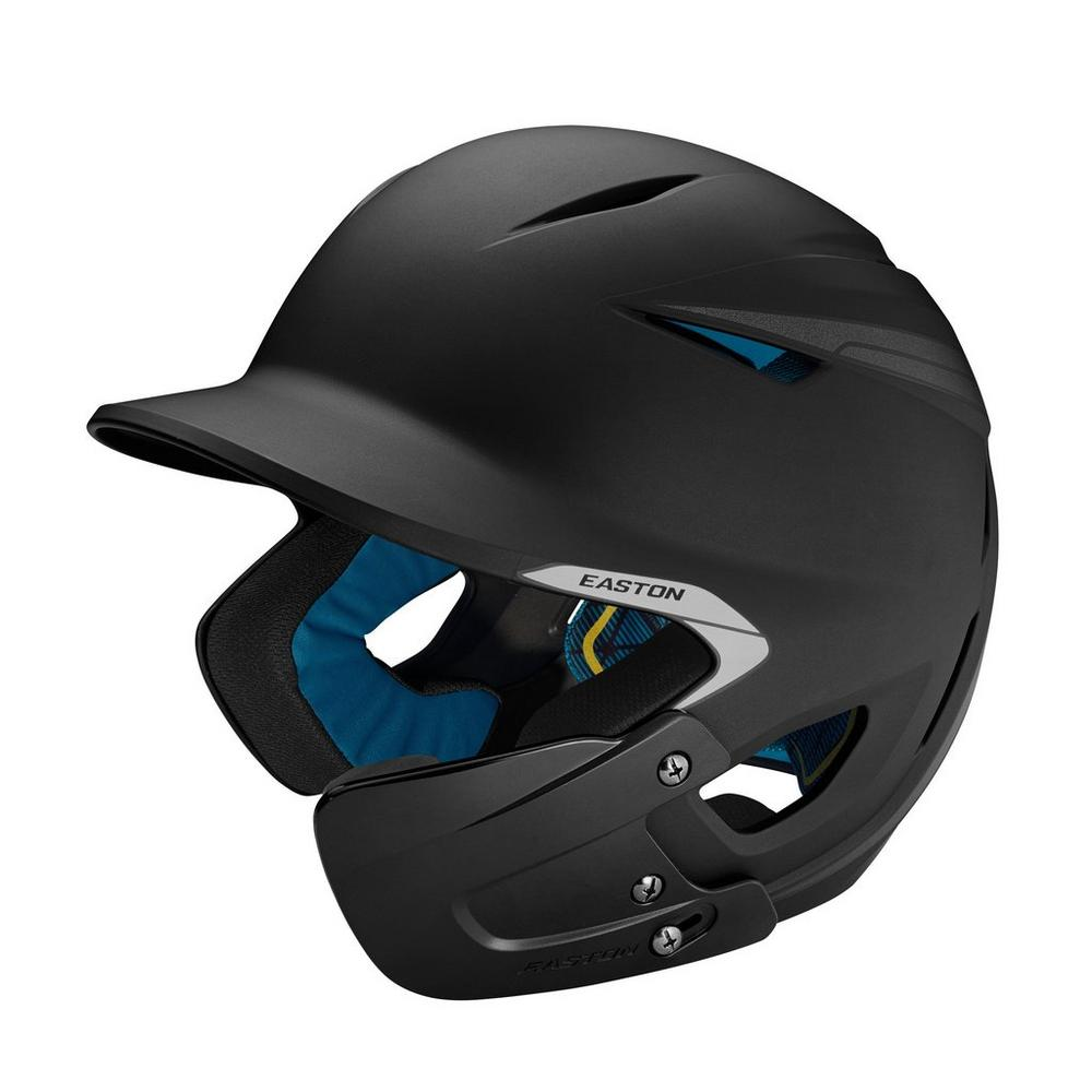 Easton Pro X matte helmet w/jaw guard-black