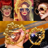 2020 Fashion Oversized Sunglasses Women Luxury Brand Vintage Punk Sunglasses Men Baroque Pearl Sun Glasses UV400 Oculos Feminino