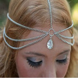 2019 Pearl Tassel Flower Stretch Headband Hair Band Wedding Accessories Crystal Bridal Hair Accessories Head Chain Hair Jewelry