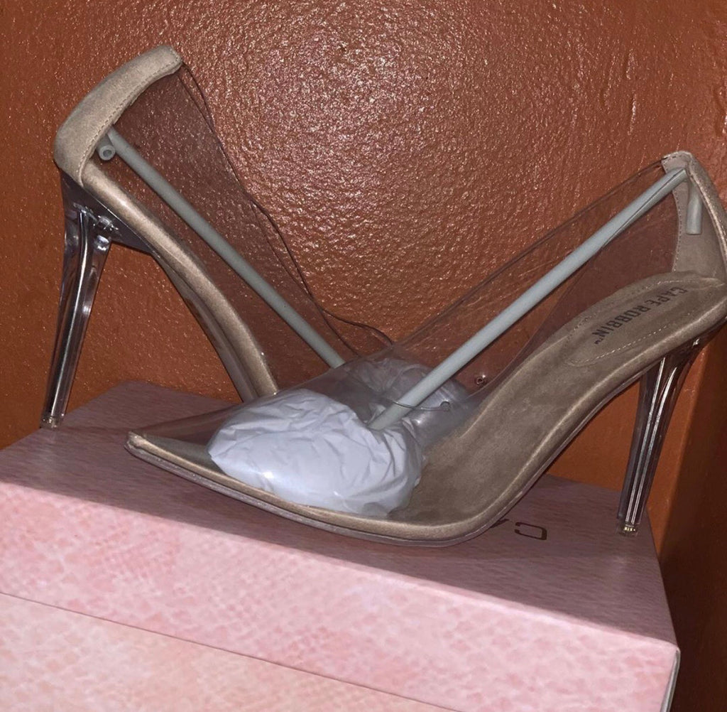 """Glass Slippers"" Clear Heels"