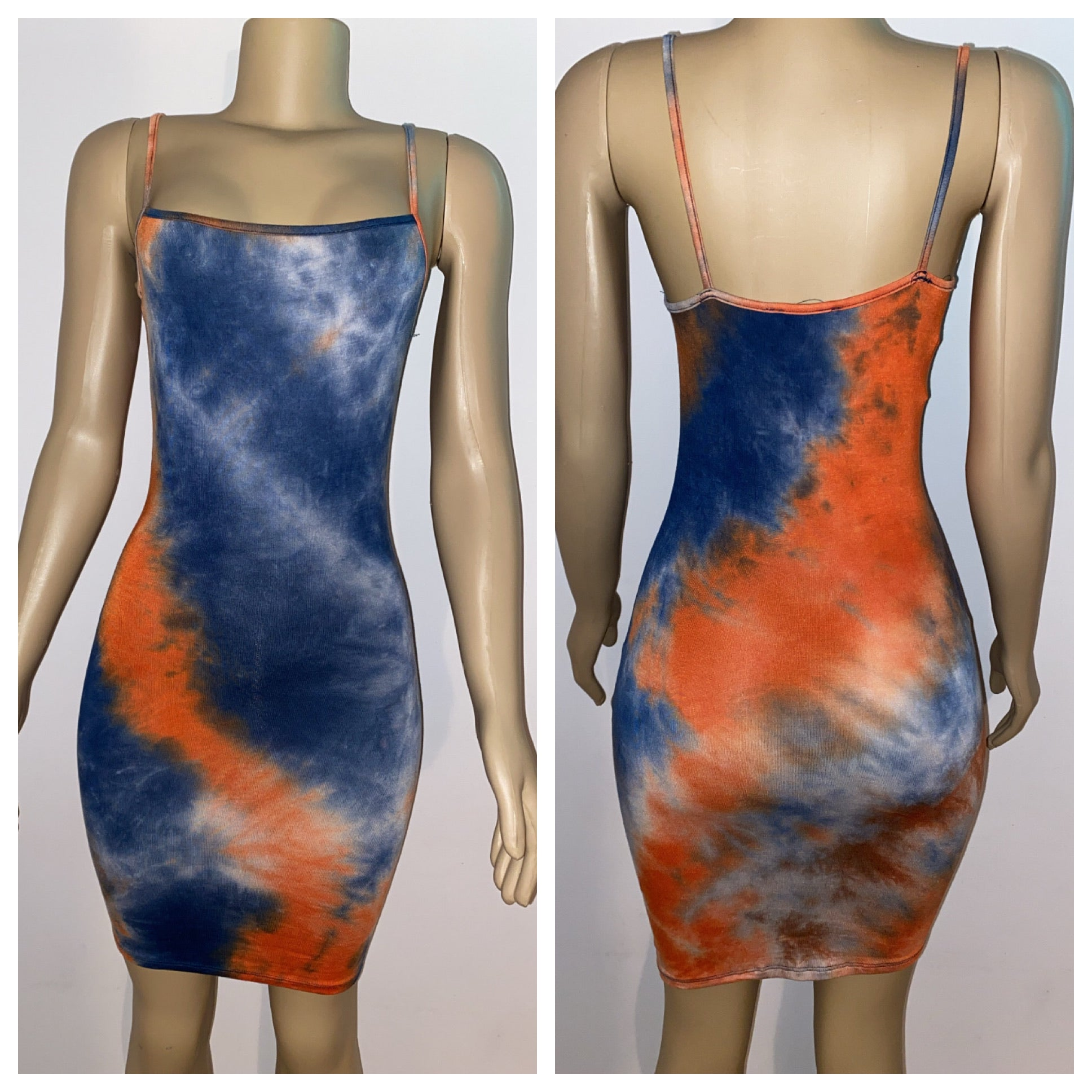 Tie Dye Dress /w Mask