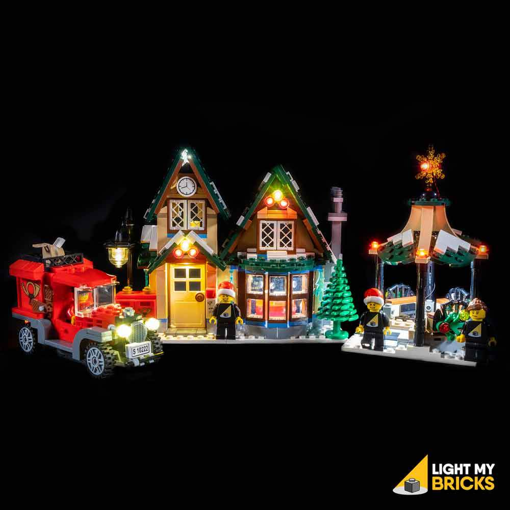 LIGHTING KIT FOR WINTER VILLAGE POST OFFICE 10222 (BUILDING SET NOT INCLUDED) BY LIGHT MY BRICKS